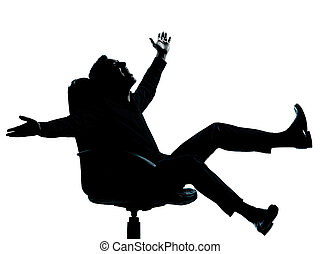 one business man happy joy silhouette - one caucasian...