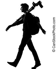 young man silhouette photographer