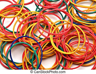 Colored rubber bands