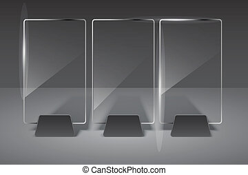 Glass billboard. Vector illustration. Eps10