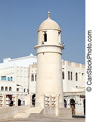 Mosque minaret in Doha, Qatar