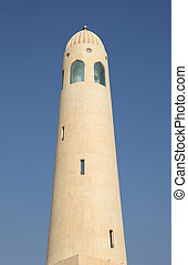 Minaret of the Qatar State Grand Mosque in Doha