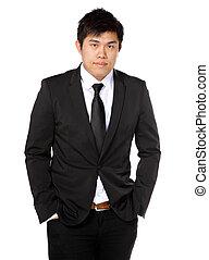 young asian business man