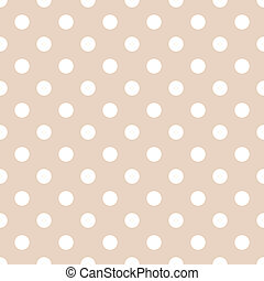 White Polkadots on Pale Beige