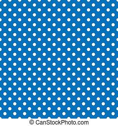 Seamless Polkadots, White on Blue