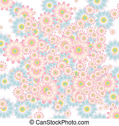 floral background in soft colors vector illustration