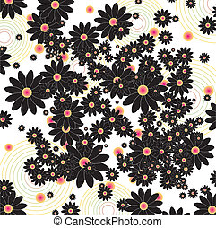 floral background in retro style