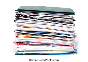 Files Stacked - stack of paperwork and file folders