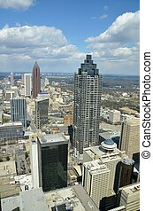 Aerial View of Atlanta, Georgia - Aerial view of the...