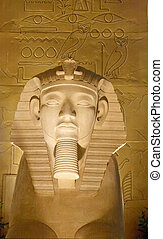 Egyptian Statue - An old egyptian statue at a tourist...