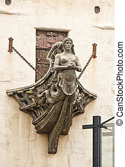 Statue from Front of Old Ship - Figurehead from the bow of...