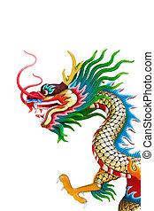 dragón, estatua, chino, estilo