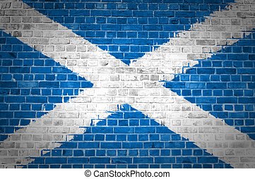 Brick Wall Scotland Saltire - An image of the Scotland...
