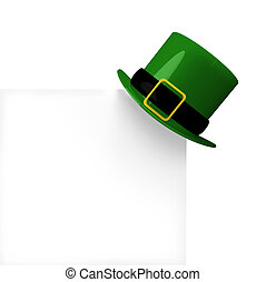 Leprechauns hat copy space - a Leprechauns hat hangs on a...