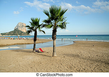 Calpe Beach - Calp is a famous town along the costa del sol,...