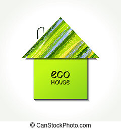 Paper Eco house - Colour paper eco house logo. EPS10