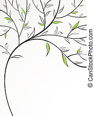 Spring Tree - Stylized spring branch Vector illustration