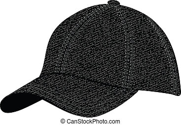 cap - The vector image of a sports headdress from a jeans...