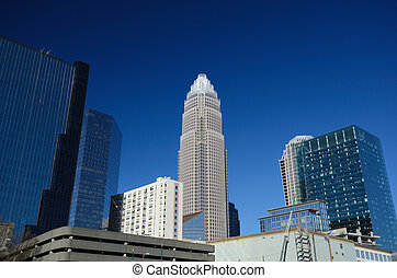 Charlotte North Carolina - Skyline of Uptown Charlotte,...