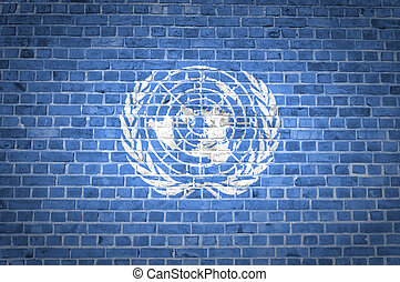 Brick Wall United Nations - An image of the United Nations...