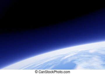 earth orbit - An image of earth from its orbit