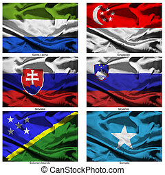 fabric world flags collection 34 - Part of a collection of...