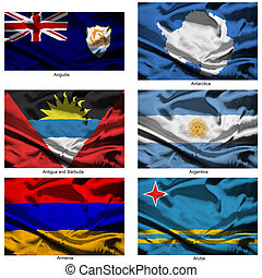 fabric world flags collection 02 - Part of a collection of...
