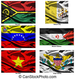 fabric world flags collection 42 - Part of a collection of...
