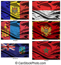 fabric world flags collection 25 - Part of a collection of...