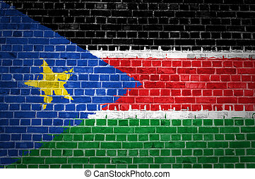 Brick Wall South Sudan - An image of the South Sudan flag...