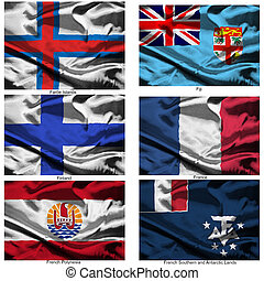 fabric world flags collection 13 - Part of a collection of...