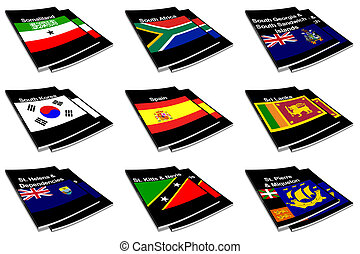 world flag book collection 26 - Part of the collection...