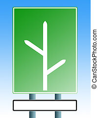 blank roadsign with blank exit3 - road sign with arrows...
