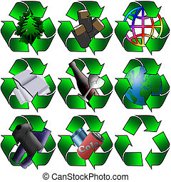 various recycling - Various recycling images for use in your...