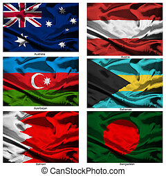 fabric world flags collection 03 - Part of a collection of...