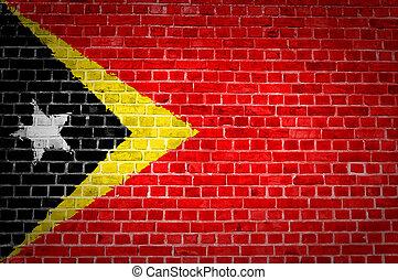Brick Wall Timor-Leste - An image of the Timor-Leste flag...