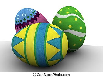 Easter eggs - easter egg hunt, chocolate and fun