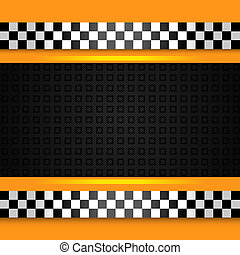 Taxi cab background close up. Vector 10 eps