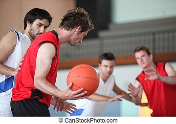 baloncesto, juego