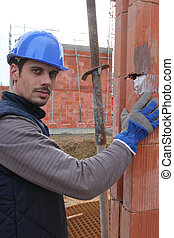 construção,  onsite, trabalhador