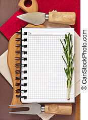 Notebook for recipes.