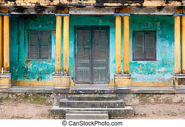Hoi An entrance - Traditional Vietnamese facade, Hoi An,...