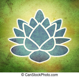 lotus flower in grunge background