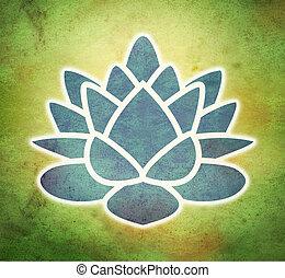 lotus flower in grunge background