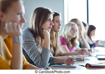 Students in class (color toned image)