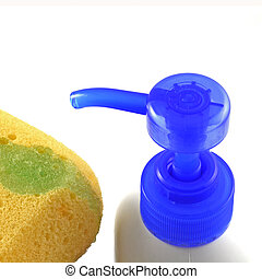 Plastic bottle and sponge