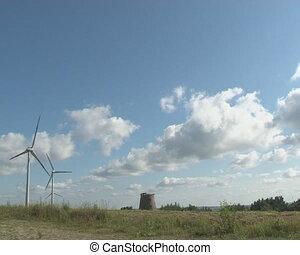 old mill ruin windmill