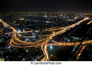 Bangkok view point - Bangkok and express way view point from...