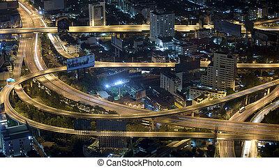 Bangkok view point - Bangkok and express way view point from...