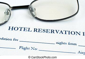 Hotel reservation form